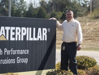 Brian McClellan, the plant manager of Caterpillar in Oxford.