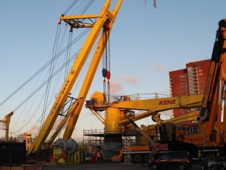 Installation of the new crane from Kenz