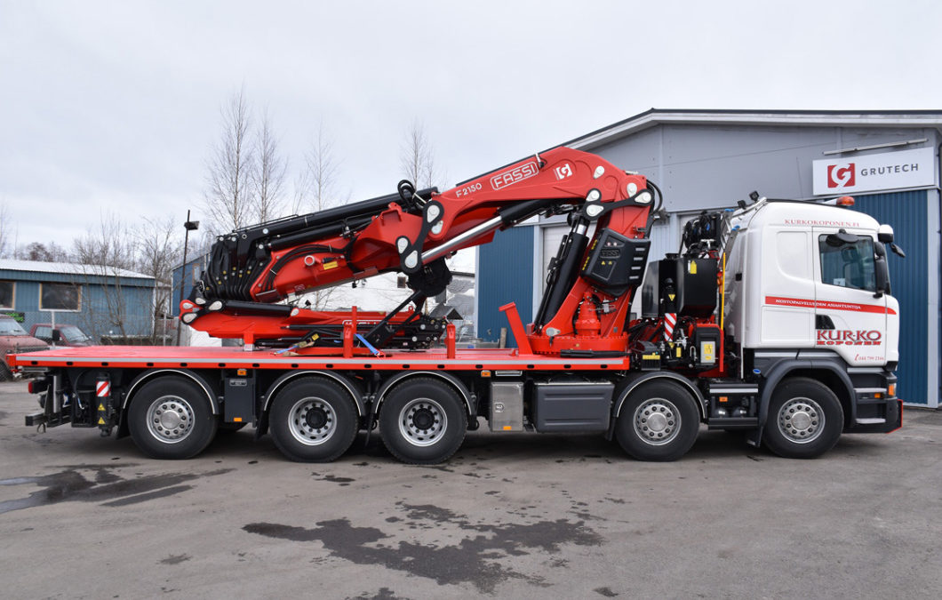 Video of Finnish based Kurko-Koponen Oy's CEO discussing the new Fassi F2150RAL articulating crane