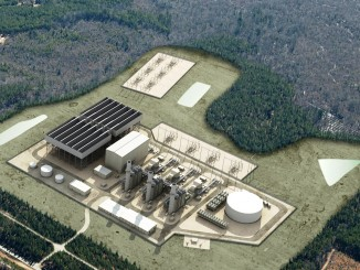 Artist rendering of the new power station