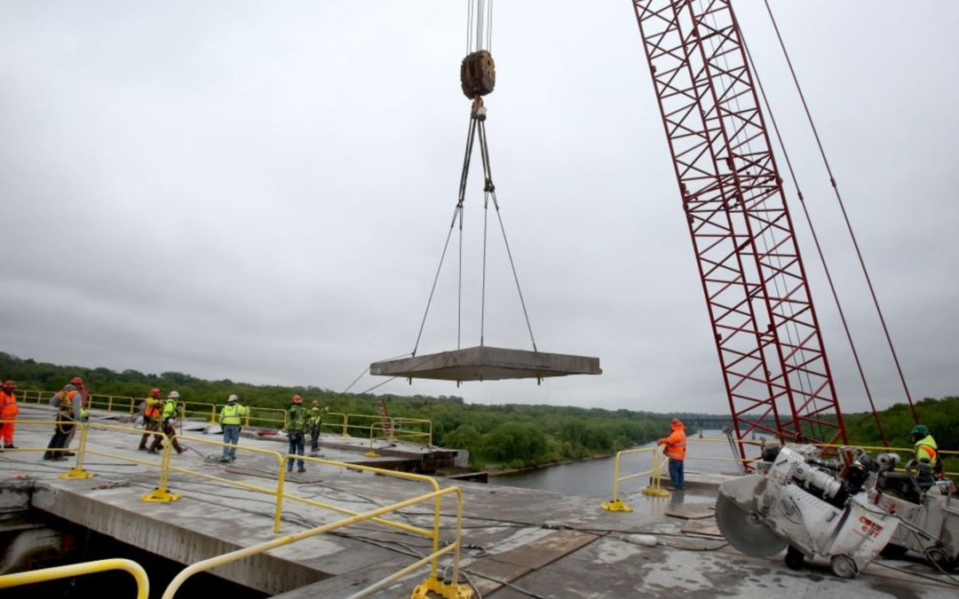Kraemer North America bridge work engineers credited with accelerating construction.