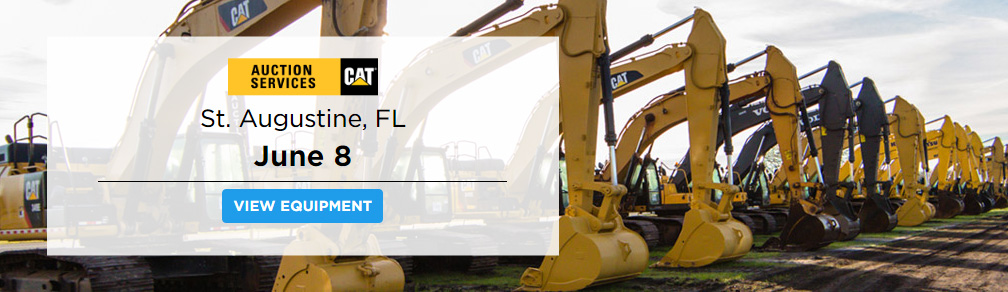 IronPlanet Comes to Northern Florida for St. Augustine Cat Auction Services Unreserved Public Auction June 8th at 9am EST