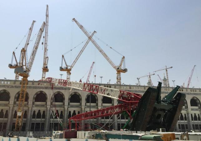 Saudi prosecutors bring charges over Grand Mosque crane disaster: newspaper