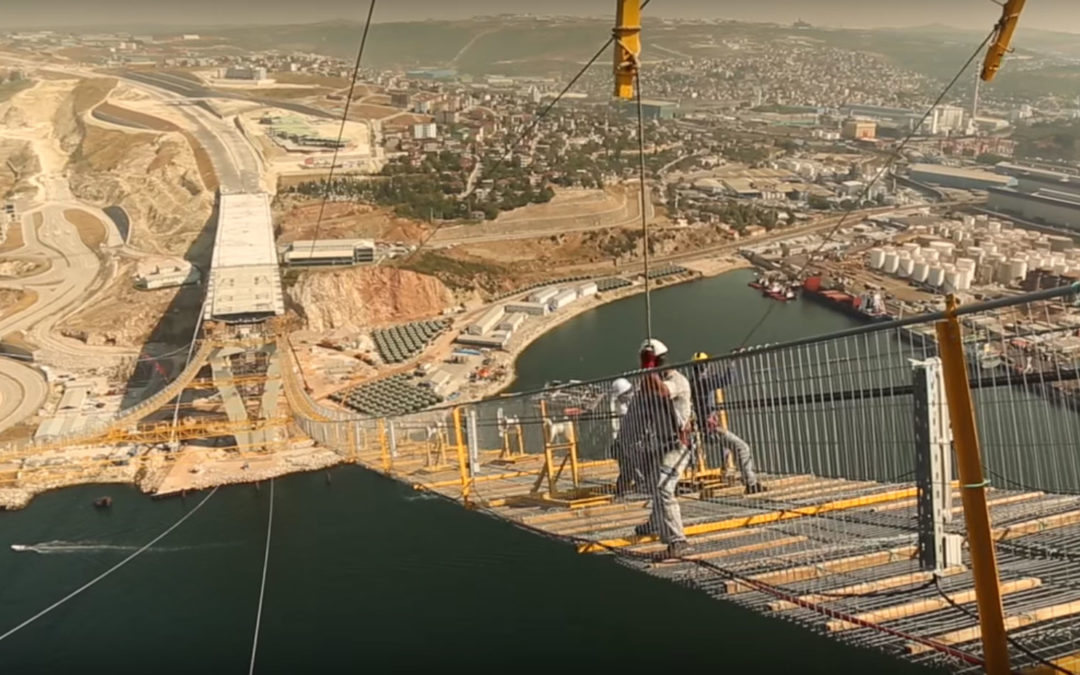 Worlds 4th Largest Suspension Bridge Opens in Turkey; Watch a TimeLapse video of the $1.3 Billion Construction Project