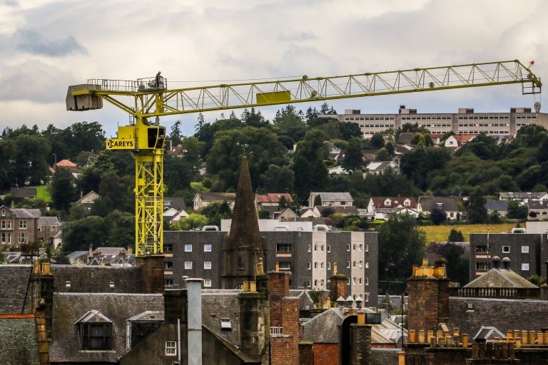 230′ Tower Crane gets to work on next stage of £15 million Perth Theatre revamp in Scotland