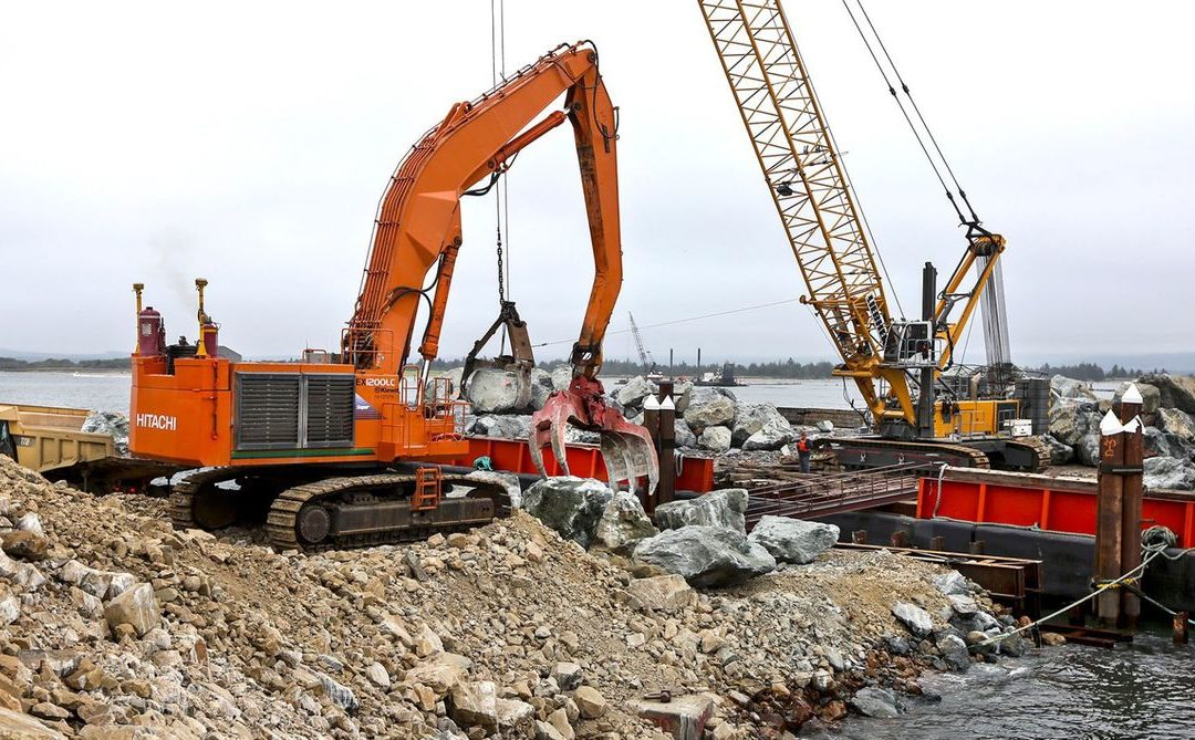 Kiewit Corp. $19 Million Jetty restoration project protecting Columbia River economies in Washington State