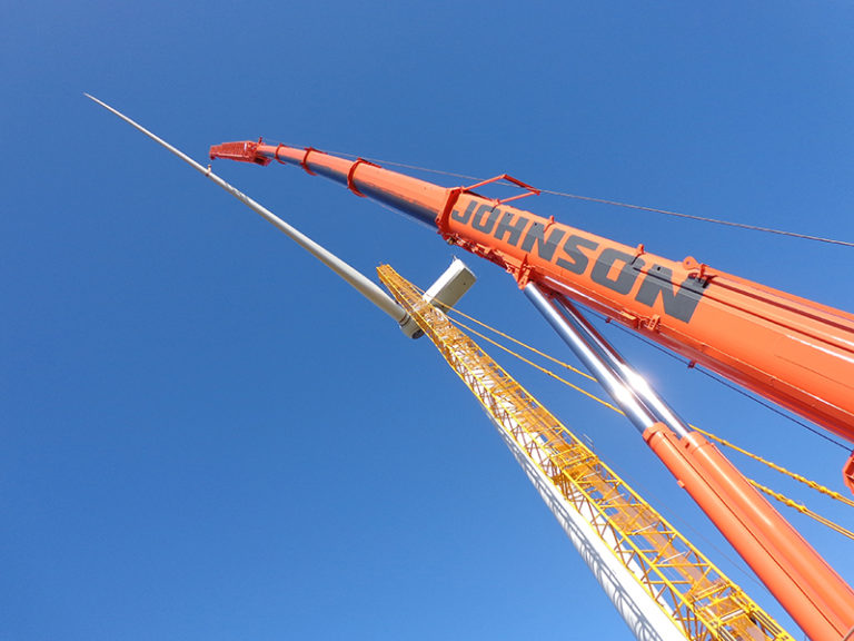 Johnson Crane Hire continues to build up an impressive track record on South Africa's wind farm projects.