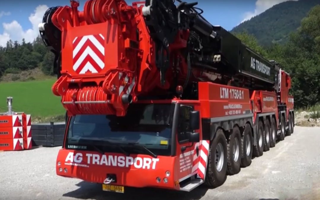 The LIEBHERR LTM 1750-9.1 – the BIGGEST mobile CRANE in the Czech and Slovak Republic