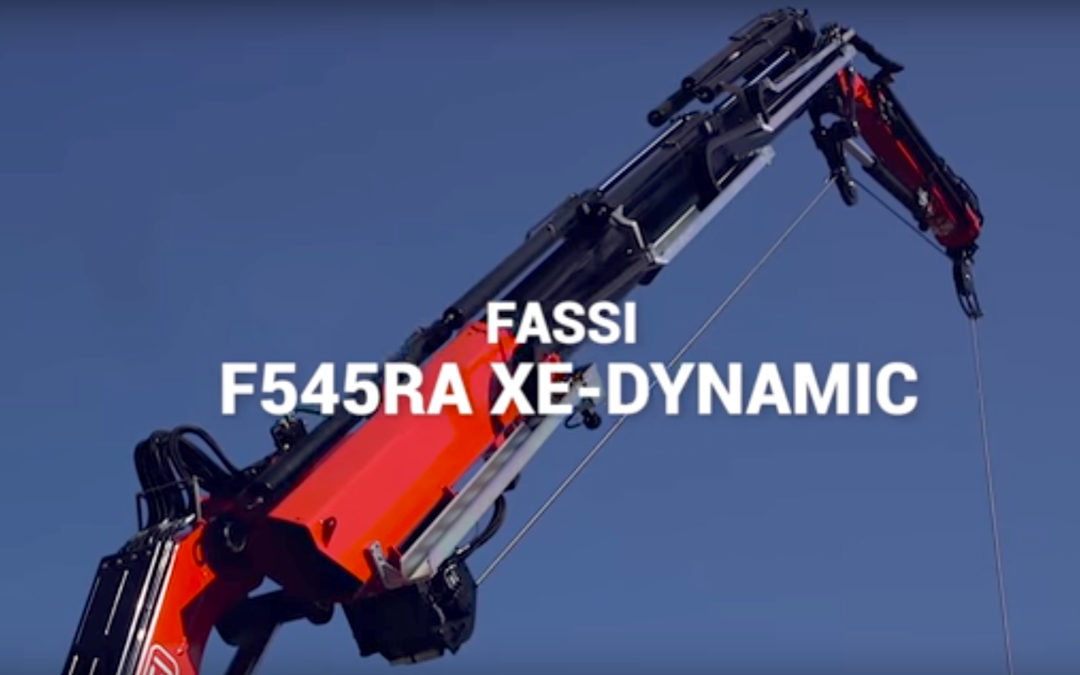 Watch offical video of the Fassi F545RA crane: light, with high-performance and compact in size