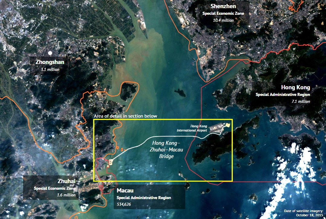 The Hong Kong-Zhuhai-Macau Bridge site.