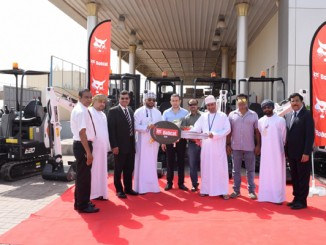 Officials at the handing over ceremony in Muscat.