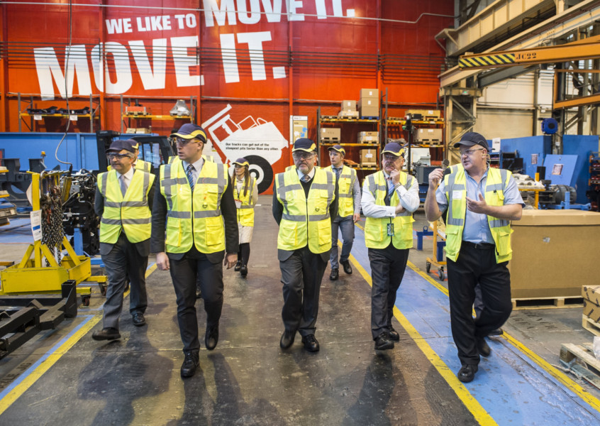 Secretary of State for Scotland David Mundell given a tour of Terex Trucks factory