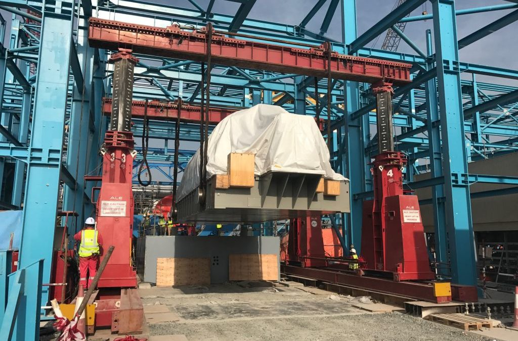 ALE Heavy lift installs first gas turbine set for Jamex Project in UAE