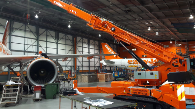 Mini Crane specialists TCA Lifting, sell 7.5t Spider Crane to Europe's leading short-haul airline