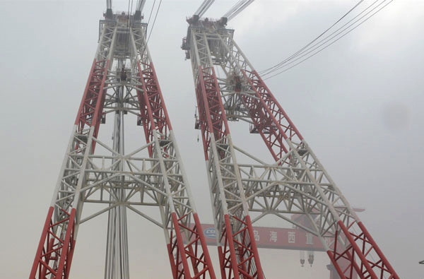 $49 million USD, 3,600 metric ton Floating Crane launched in China