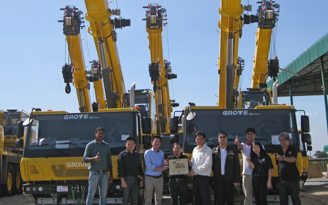 Grove All Terrain Mobile Cranes helping the Provincial Electricity Authority (PEA) in Thailand Power Up