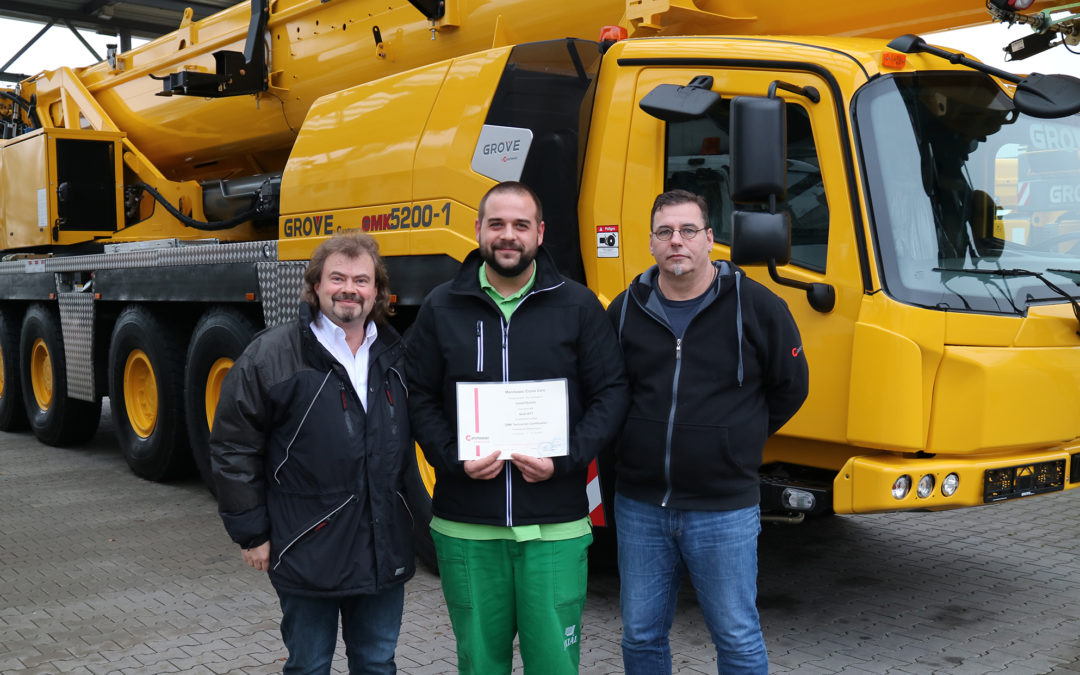 Axial Ltd. is now Hungary's exclusive Grove Crane dealer, completes training program