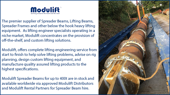 Modulift manufactures its largest spreader beam ever, sees upward trend in heavy lift sector