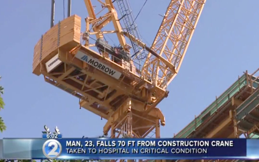 Man in critical condition after falling 70 feet from Luffiing Jib Tower Crane in Hawaii
