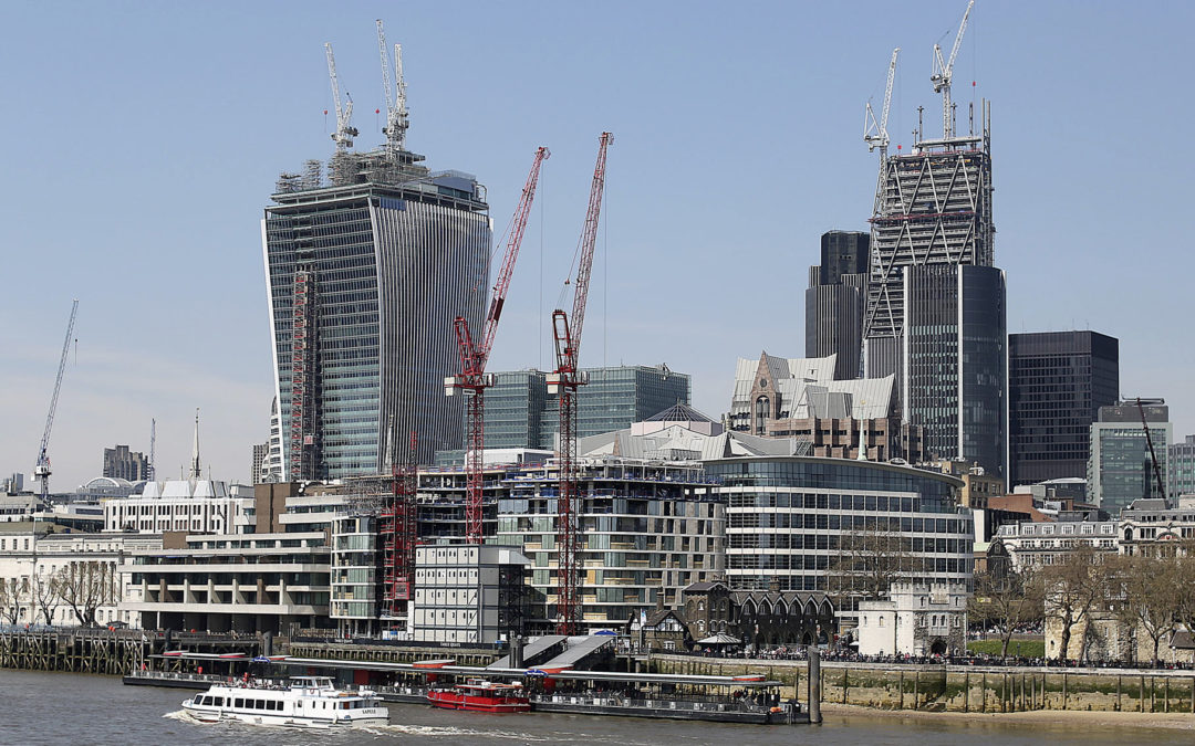 A building boom is nearing record levels across some of Britain's biggest cities