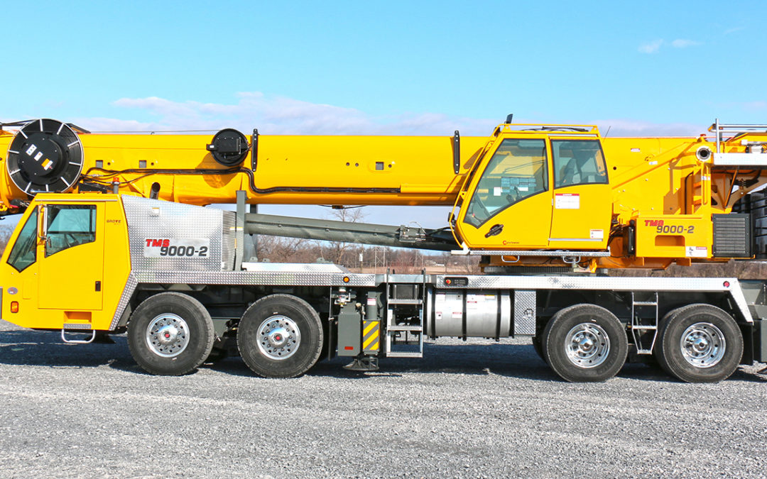 Official Video of the new Grove TMS9000-2 115-ton US  telescopic truck crane