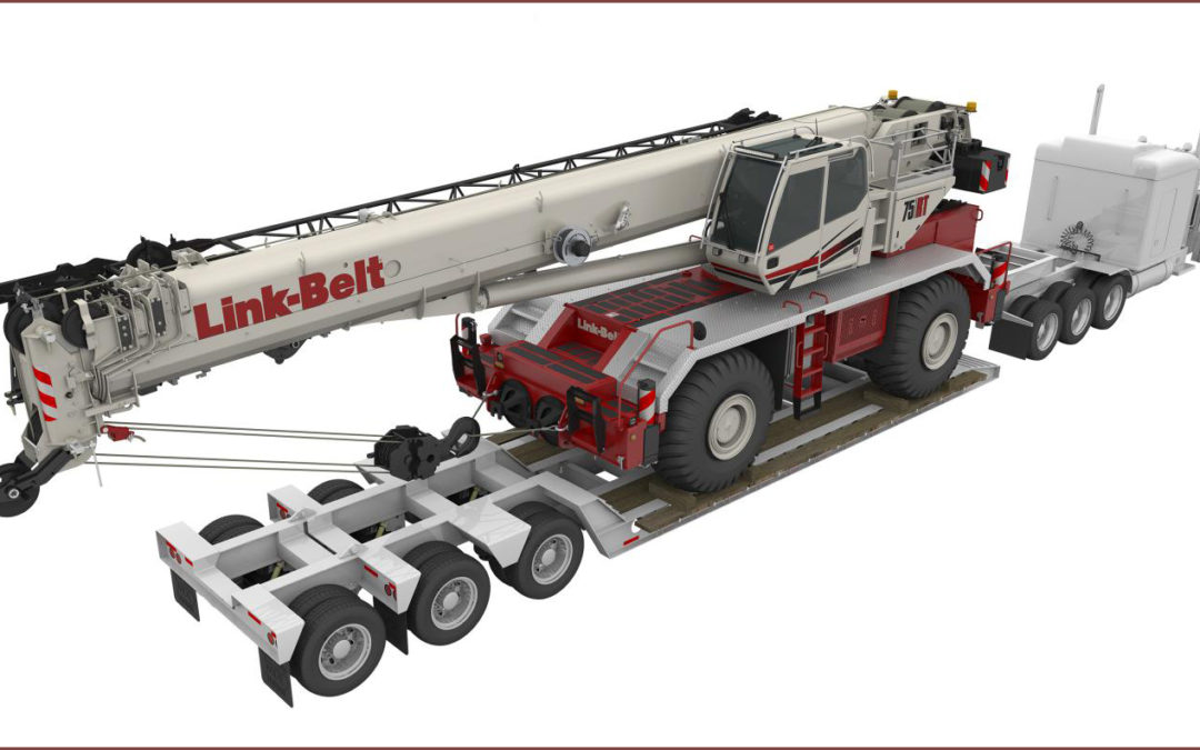 The new Link-Belt 75RT Rough Terrain Crane Combines Technology and Simplicity