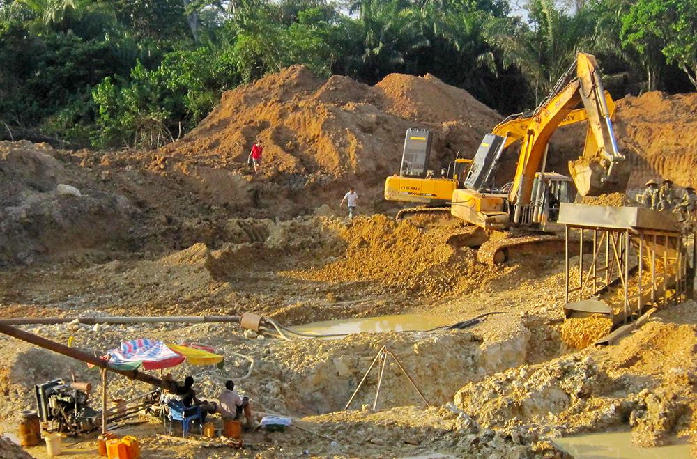 To curb illegal gold mining in Ghana Excavators will now operate with permits or be destroyed