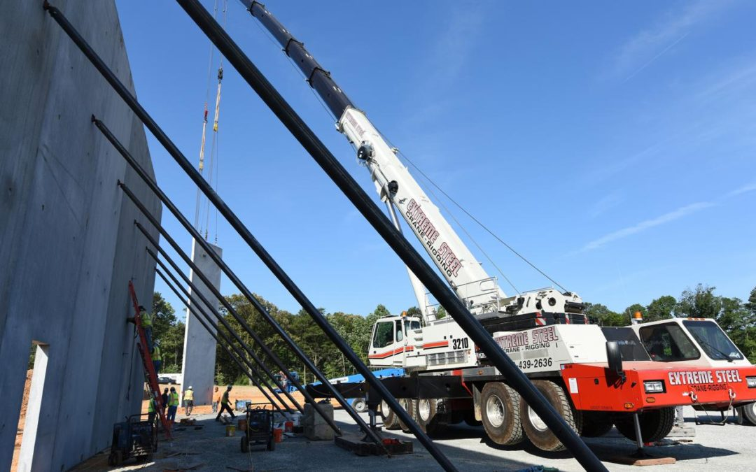 A Link-Belt ATC-3210 All Terrain Crane the right fit for Extreme Steel in Northern Virginia