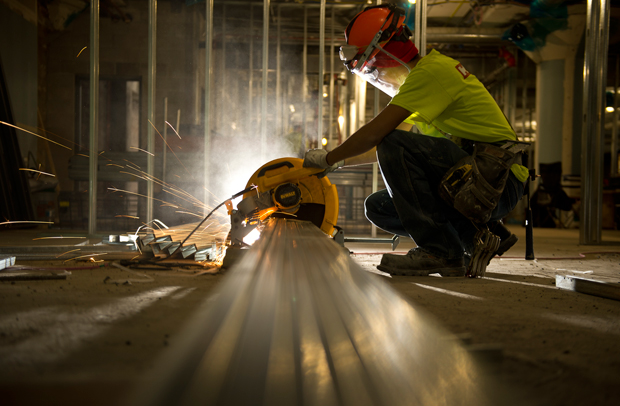 Cool Pics of crews working on the Milwaukee Public Library's Mitchell Street location