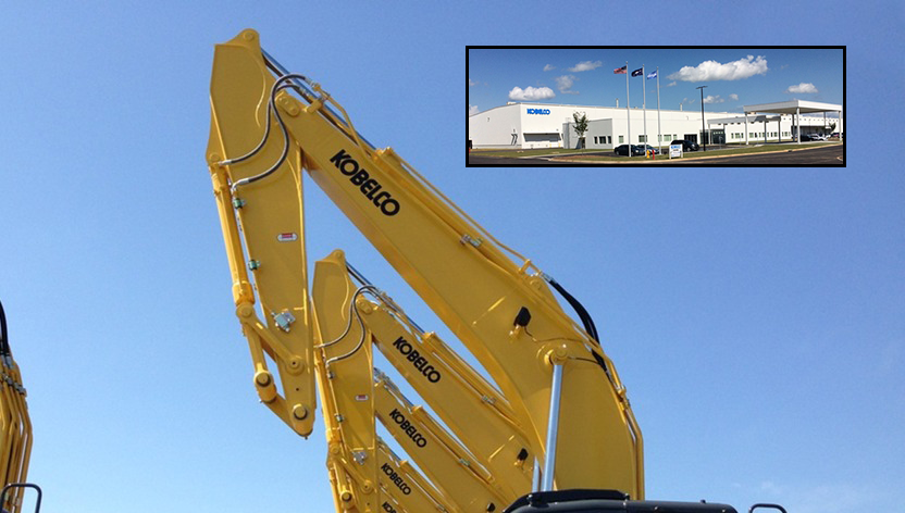 Kobelco is ramping up production at the new North American excavator facility in South Carolina