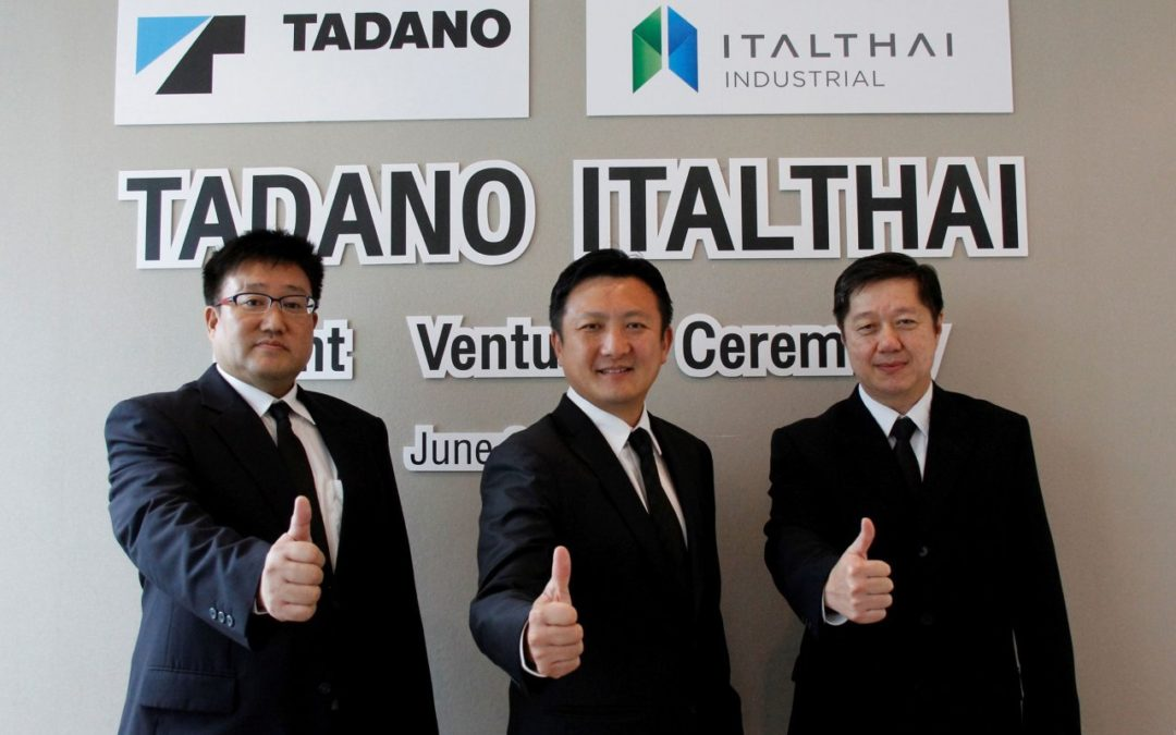TADANO has set up a joint venture with Italthai Industrial for the distribution of loader cranes