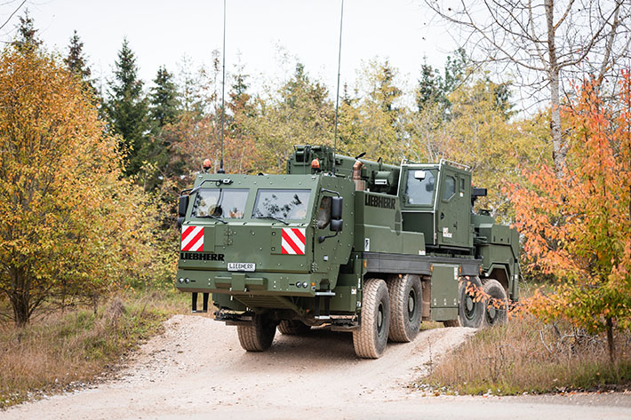 Liebherr receives the order to supply armoured mobile and rescue cranes to the German Army