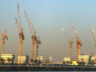 A fleet of 10 Potain MR 418 tower cranes is helping construct a massive new project: the Royal Atlantis Resort and Residences, which is located on the crescent of the Palm Jumeirah island in Dubai, United Arab Emirates. Potain business partner, Abu Dhabi-based NFT, supplied the cranes on a rental contract to the joint venture (JV) building the development. The JV is made up of two contractors—the Belgium-based BESIX and South Korea's SsangYong Engineering & Construction—and the project marks the first time that MR 418 cranes have been used in the UAE.