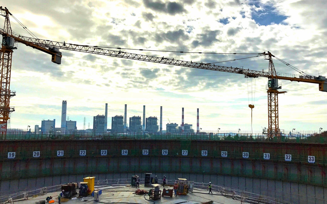 Potain MC 310 K12 tower cranes starting work on Liquefied Natural Gas Terminal in South Korea