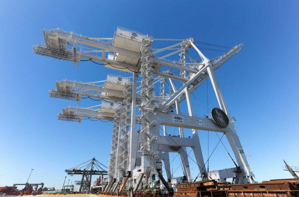 Three ZPMC ship to shore cranes valued @ $33.5M arrive in Port Houston after 3 month journey