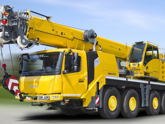 Manitowoc has introduced a new all-terrain crane, the best-in-class Grove GMK4090. The new taxi crane features a modern, compact design that puts emphasis on roadability and maneuverability.