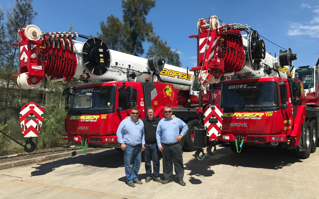 The new Grove all-terrain GMK series cranes are growing in popularity in Australia