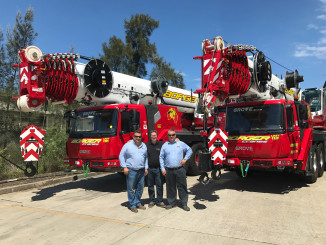 The last 18 months have seen a surge in the number of long-boom Grove all-terrain cranes heading into Australia. The machines' combination of exceptional reach and easier mobility is proving a successful formula for rental companies, with near continuous deliveries of the GMK4100L-1, GMK5250L and GMK5150L heading to crane depots across the country.