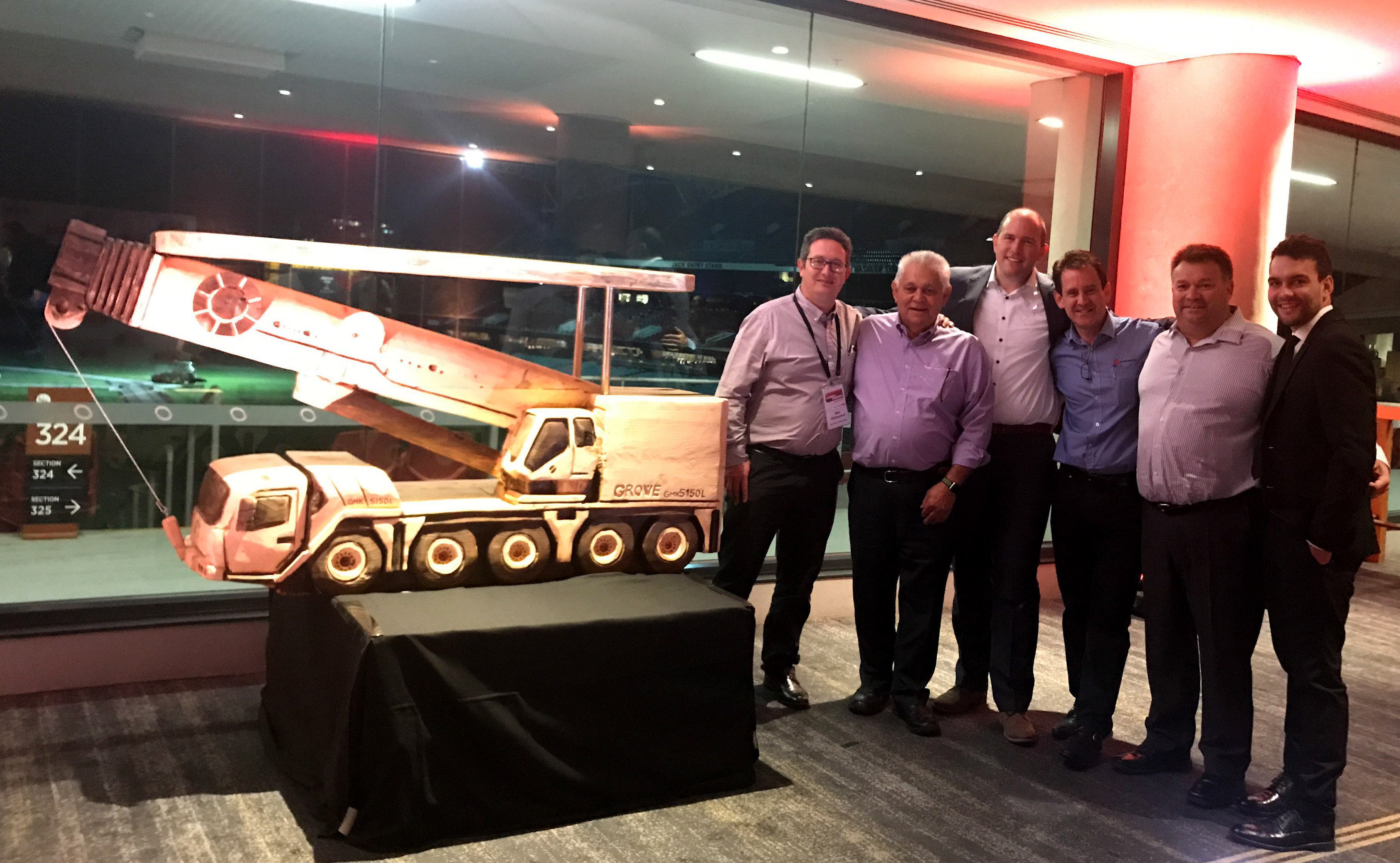 The Grove GMK5150L all-terrain crane stole the limelight at this year's Crane Industry Council of Australia (CICA) 2017 Conference. A unit, purchased by Cranes Combined of Tasmania, was displayed on the Manitowoc booth and the company confirmed two further sales during the show before staging a hugely successful auction of a carved model at the event's gala dinner. The GMK5150L, which launched into Australia earlier this year, has already established itself as one of the country's most popular choices in the five-axle category.