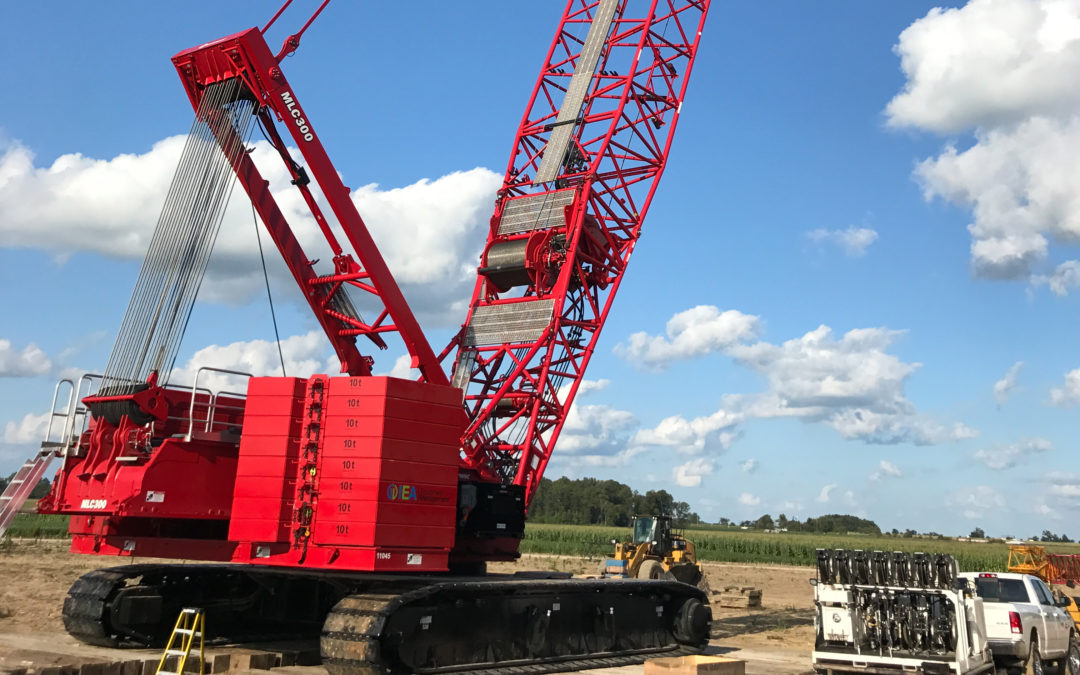 White Construction uses Manitowoc MLC300 to complete wind project ahead of schedule