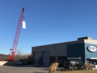 Kirby-Smith Machinery celebrated the grand opening of its new Kansas City location with an open house event on December 6th of 2017. The new addition brings the Oklahoma City-based company's total locations to 10. The event featured a ribbon cutting ceremony and promotion of the Manitowoc, Grove and National Crane brands.