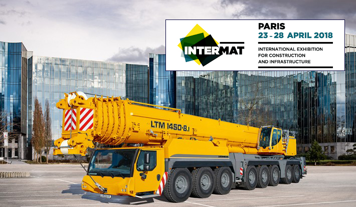 In April, Liebherr will present the Liebherr LTM 1450-8.1 @ the Intermat show in Paris