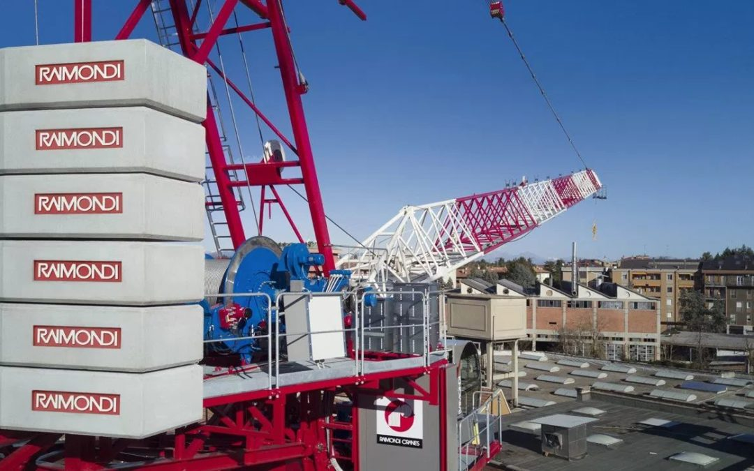 Raimondi introduces heavy lifting technology to the LR330 Luffing Jib Tower Crane