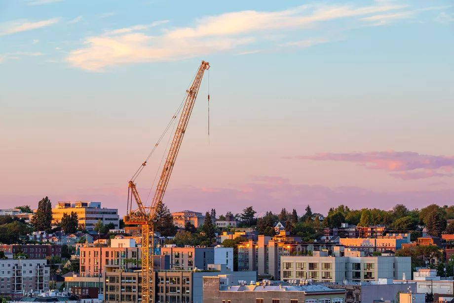 Seattle remains the Tower crane capitol of the US according RLB