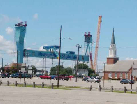 TIME-LAPSE: New Goliath gantry crane lifted at Newport News Shipbuilding