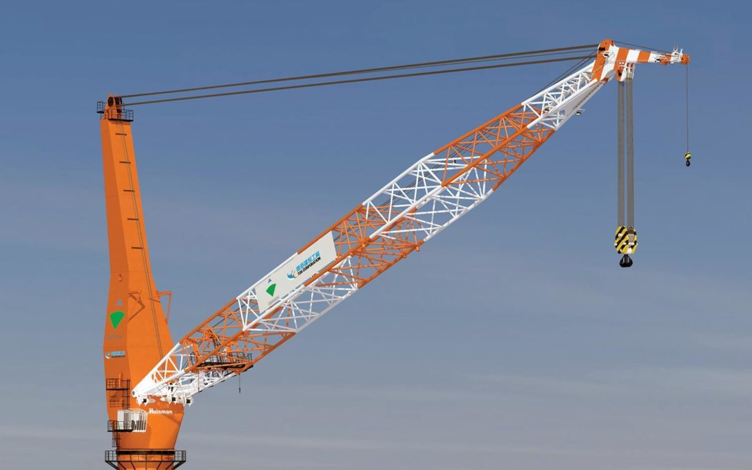 1000-ton Huisman Pedestal Mounted Crane goes to Japanese Penta-Ocean Construction