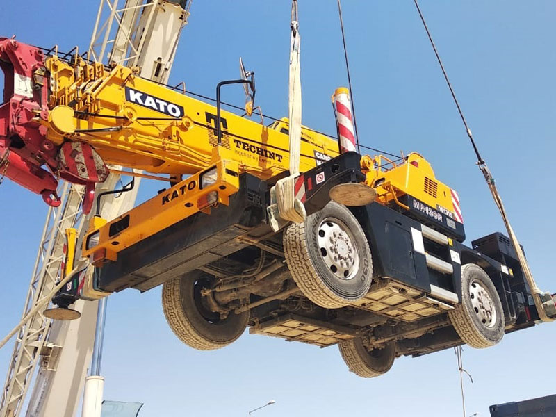 Kato Crane ships from Egypt to Buenos Aires, Argentina