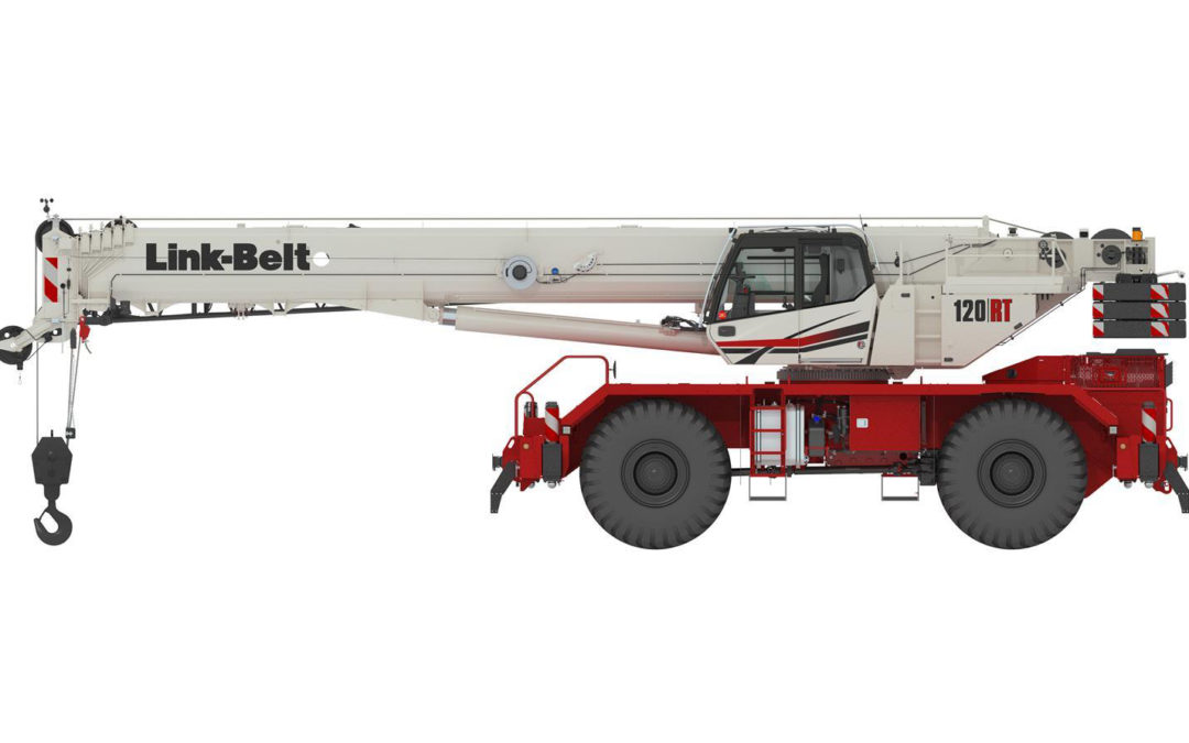 Link-Belt released details on a new 120-ton model 120RT Rough Terrain Crane