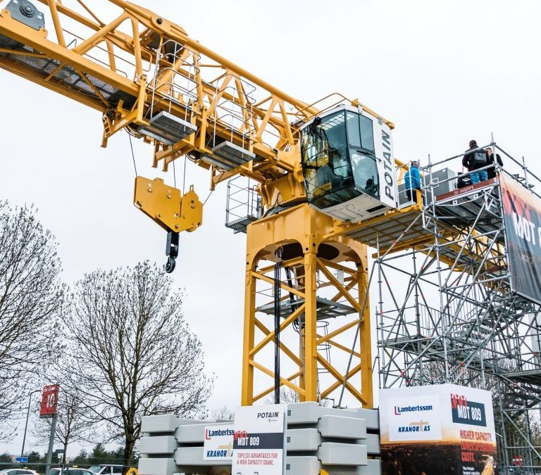 The New Potain MDT 809 Series Flat Top Tower Crane is the largest topless model offered by the Manitowoc Group