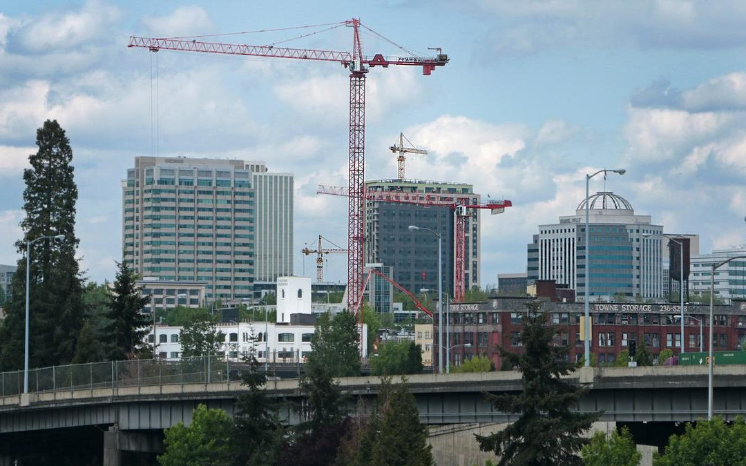Apparently Portland has the third most tower cranes erected in USA